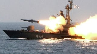 Worlds MOST POWERFUL ship says hello to NATO with anti ship missiles