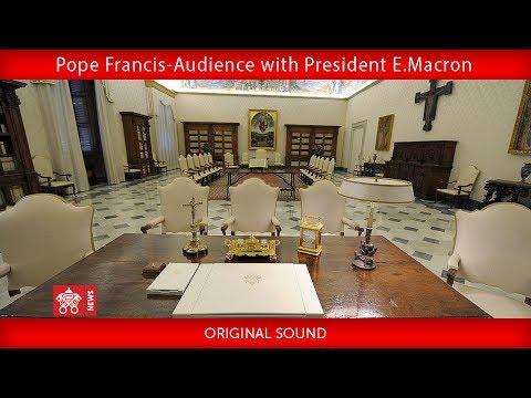 Pope Francis- Audience with President Emmanuel Macron 2018-06-26