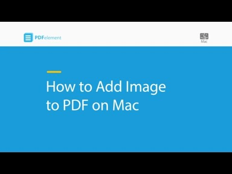 How to Add Image to PDF on Mac (compatible with macOS 10 14 Mojave)