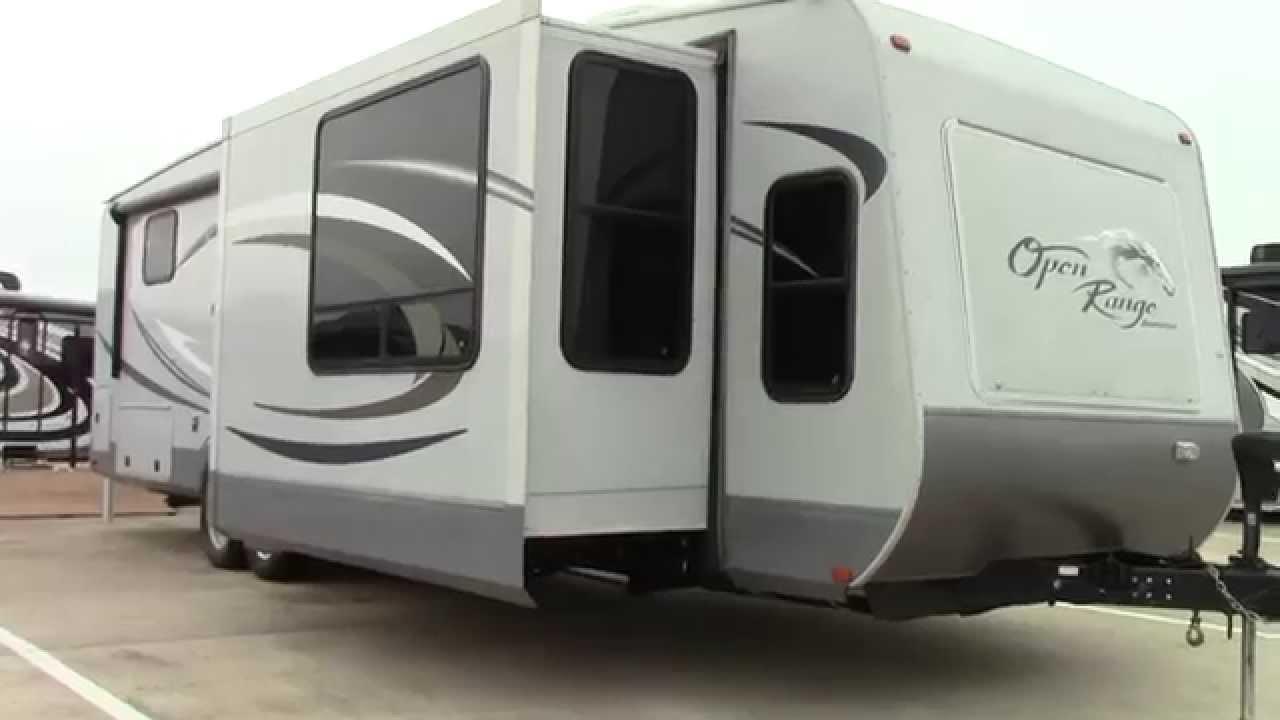 Preowned 2012 Open Range Journeyer 340flr Travel Trailer Rv Holiday World Of Houston In Katy Tx