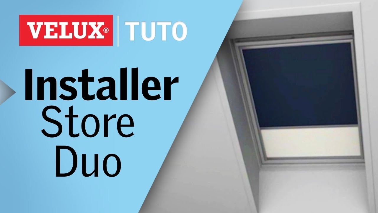 tuto comment installer un store duo occultant et tamisant velux r f dfd youtube. Black Bedroom Furniture Sets. Home Design Ideas