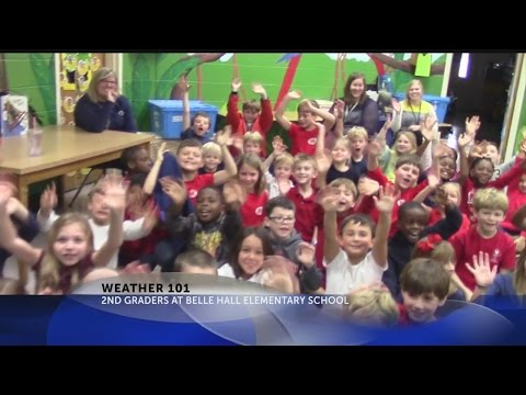 Weather 101 with 2nd Graders at Belle Hall Elementary School
