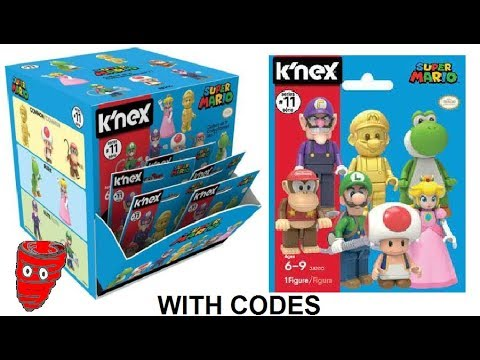 K Nex Super Mario Series 11 Blind Bags With Codes Video