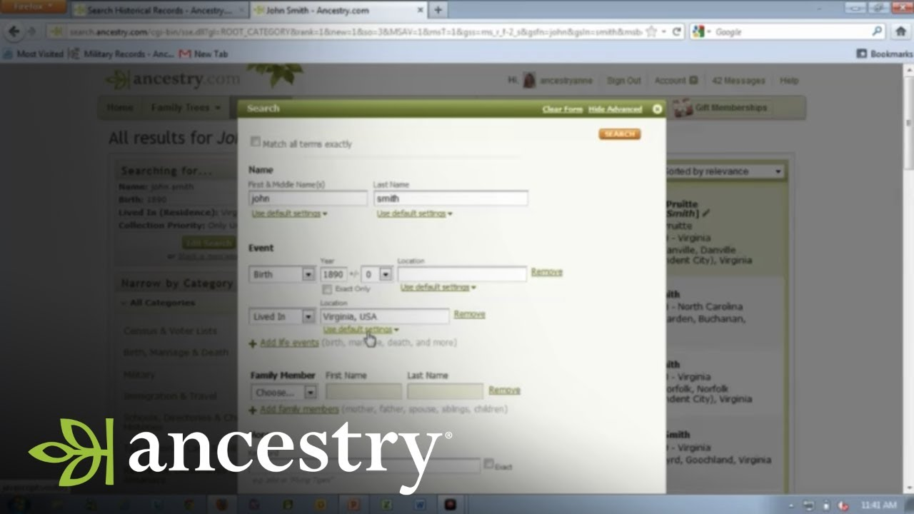 How to Control Your Ancestry com Search Results | Ancestry