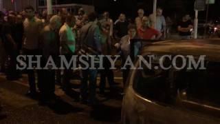 Խոշոր ավտովթար հրդեհ Երևանում  Շամպայն գինիների գործարանի մոտ բախվել են Mercedes ն ու Toyota ն