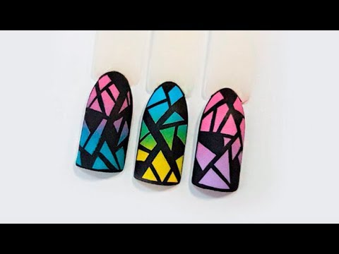 Роспись ногтей акриловыми красками видеоурок