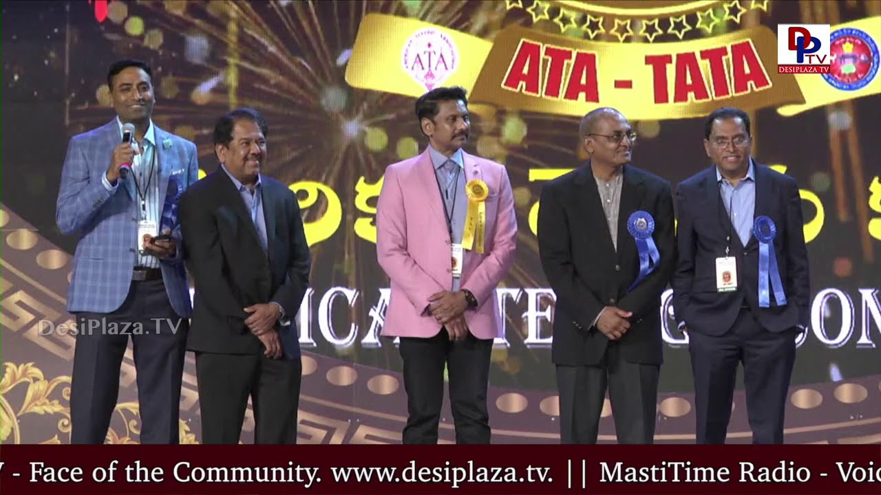 Vikram Jangam introduces TATA Team at American Telugu Convention in Dallas - Day 2 | DesiplazaTV