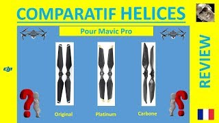 HELICES MAVIC PRO : Le comparatif Original Platinum Carbone