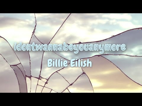 """idontwannabeyouanymore"" 