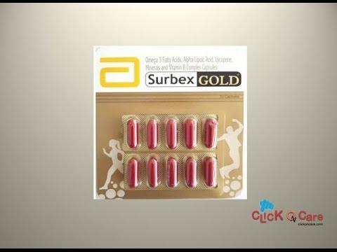 Surbex Gold Multivitamin Capsules Clickoncare Youtube