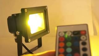 Светодиодный RGB прожектор 10W(RGB прожектор 10W (Ватт) с пультом управления. Подробное описание читайте тут: http://ledlife.pro/rgb-prozhektor/rgb-prozhektor-10W.php., 2014-02-11T17:58:51.000Z)