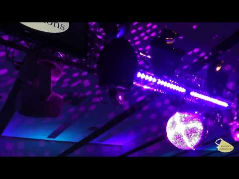 American DJ M 2020 20 inch Mirror Ball with Elation Platinum Spot LED II WH