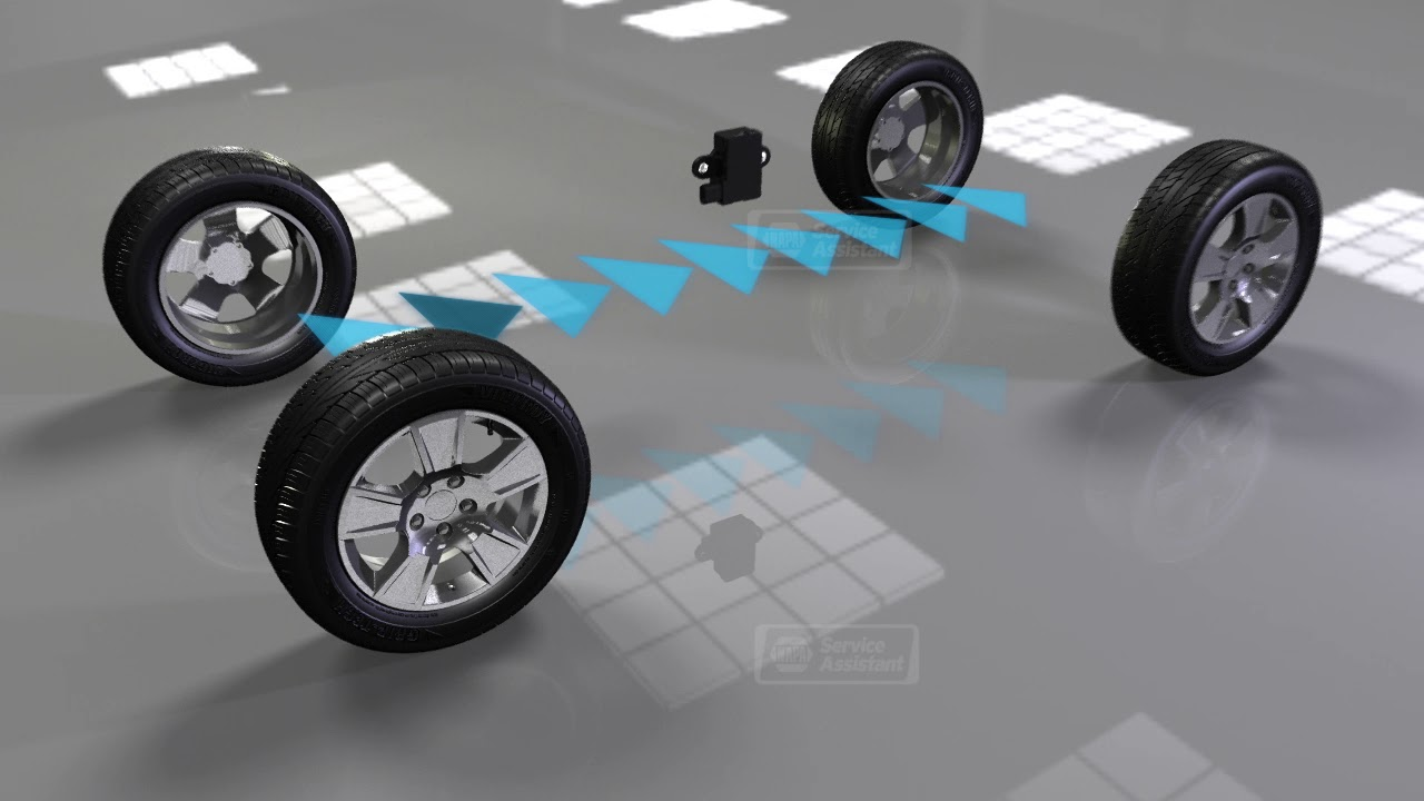 Animation on How Tire Pressure Monitoring System Works