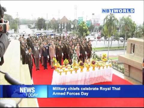 Military chiefs celebrate Royal Thai Armed Forces Day