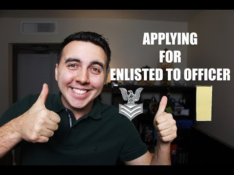 I'M APPLYING TO GO FROM ENLISTED TO OFFICER?!