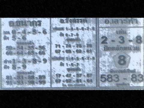 เลขเด็ด หวยซอง  หวยเด็ด 1 มิถุนายน 2554