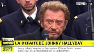 Interview de Johnny Hallyday après sa défaite en finale de Twitter Lanta S3