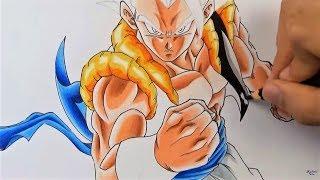 Como Dibujar a GOGETA Migatte Ultra instinto Dragon Ball | Con✏️ lápices baratos Faber Castell
