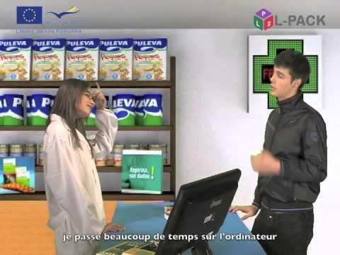 Dialogue 12a  à la pharmacie  français