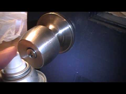 How To Fix or Repair a Sticky or Stuck Door Knob Keyhole Using WD-40 Penetrating Oil & How To Fix or Repair a Sticky or Stuck Door Knob Keyhole Using WD ...
