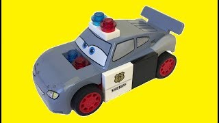 Тачки 3 Лего Полицейские Машины Молния Маквин Мак Джексон Шторм Мисс Крошка Мультики про Машинки