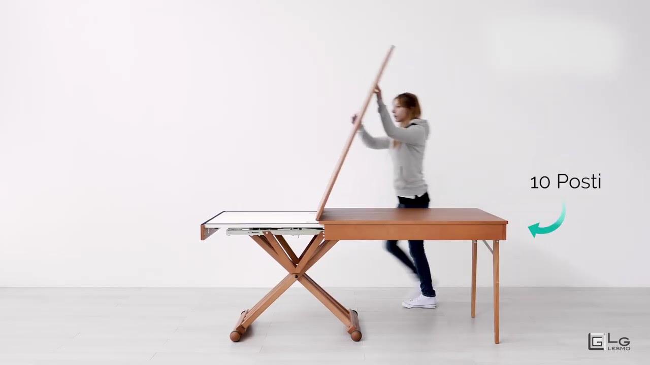 Tavolo Allungabile Lg Lesmo.Tavolo Magico Allungabile Ciliegio Americano 10 Posti Lg Lesmo