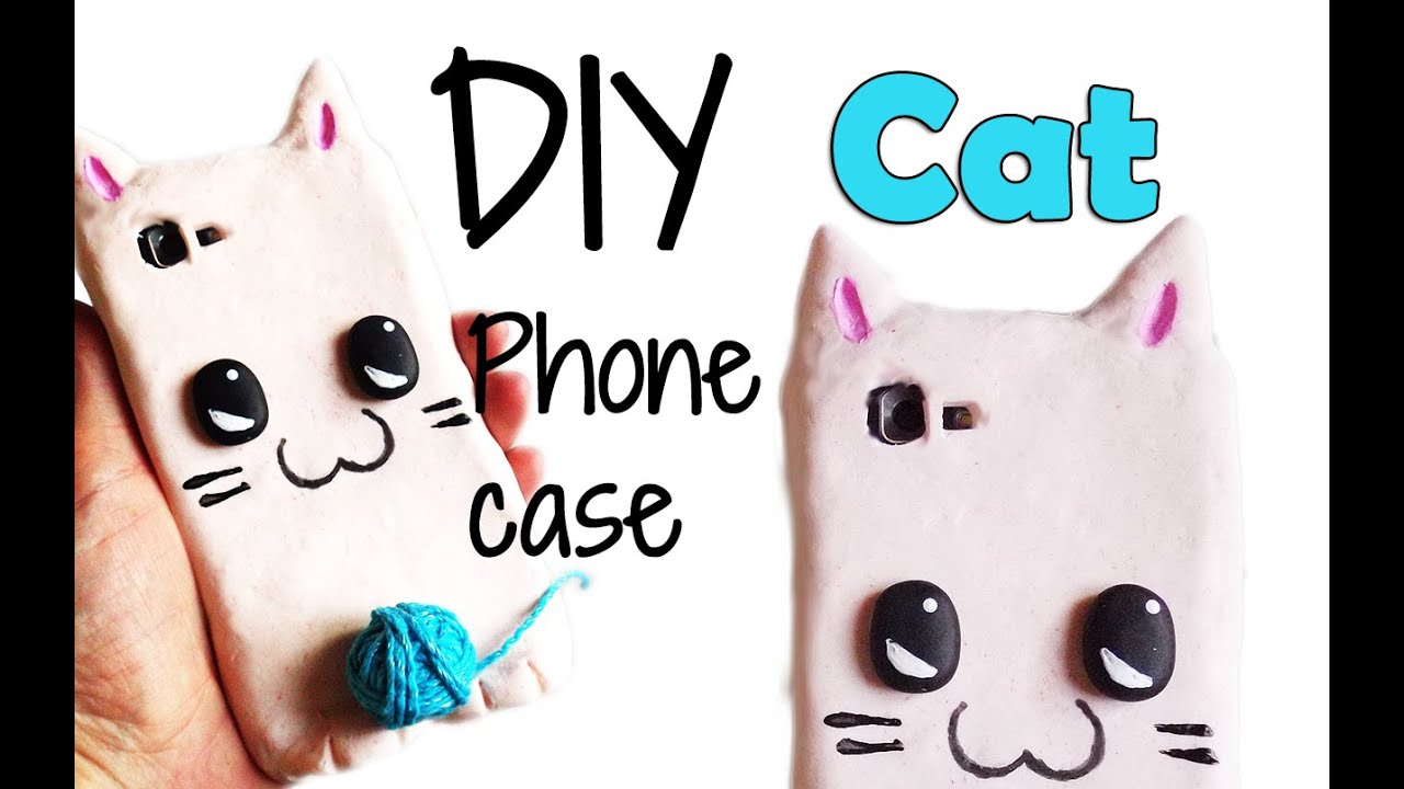 Diy kawaii cat phone case tutorial cover silicone for How to make a homemade phone case