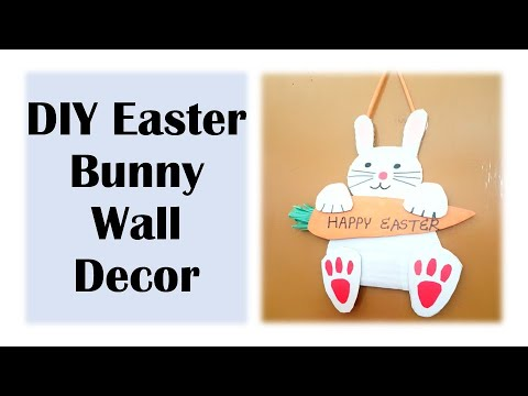 DIY Easter Bunny Wall Decor | Easter Craft for kids | Easter Wall Hanging.