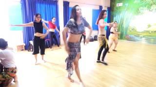 Lớp múa bụng Bellydance nâng cao quận1-HCM- Ms Hoà- Asala Walahi Ma Thadi