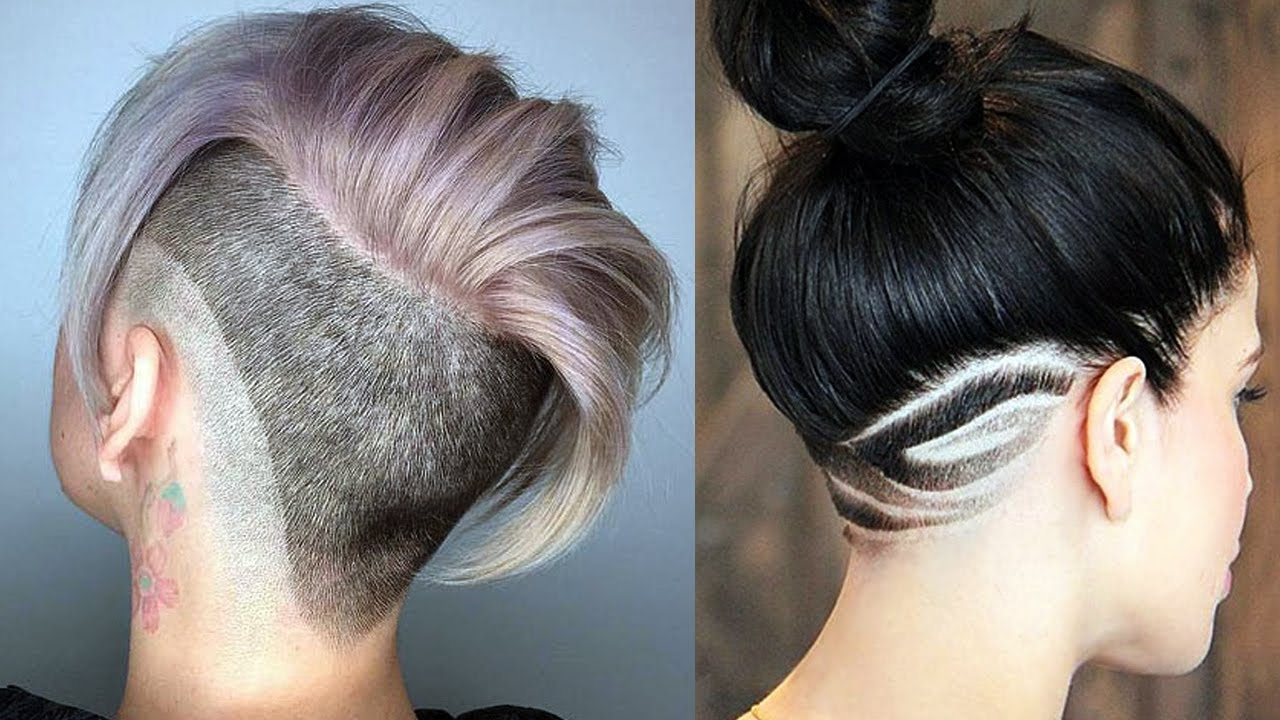 Undercut Haircut And Hairstyle For Women New Hair Tattoo For Women