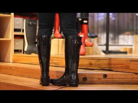Hunter - Tall Back Adjustable In Black Gloss