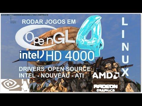 Exclusivo - OpenGL 4.1 Ou Maior Em Placas Intel HD 4000 + Linux Ubuntu, Fedora Etc - OpenGL 4.5
