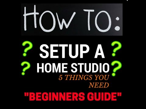 How To Set Up a Recording Studio - Recording Audio - Set Up For Beginners
