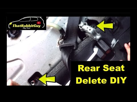 How to Delete the Rear Seats in MK5 GTI