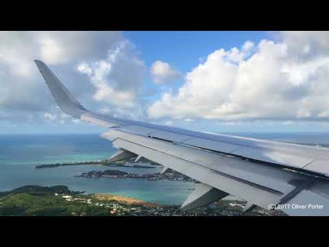 American Airlines A321 Landing Antigua