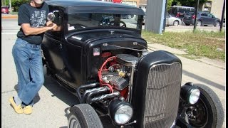 1931Ford Coupe Hot Rod at Shelburne's BIA Farmers Market