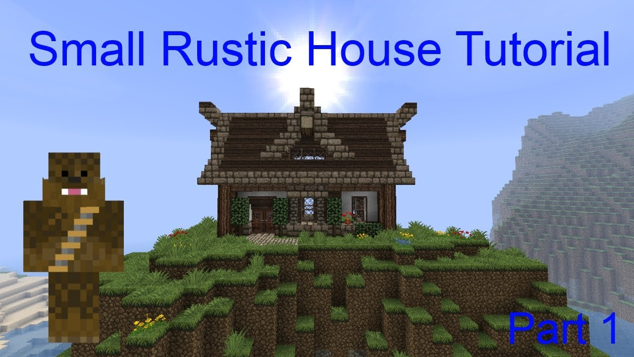 Minecraft 13x7 small rustic house tutorial part 1 youtube for Classic house tutorial