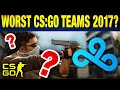 Top 5 Disappointing Pro CS:GO Teams of 2017