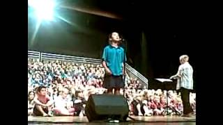 Nichole Suarez at 11 years of age sings like a pro in the concert of Suzanne Prentice