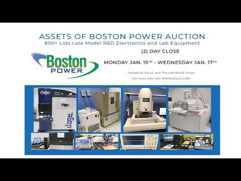 Assets of Boston Power Auction