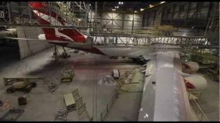 Qantas B747 Reconfiguration Time-lapse