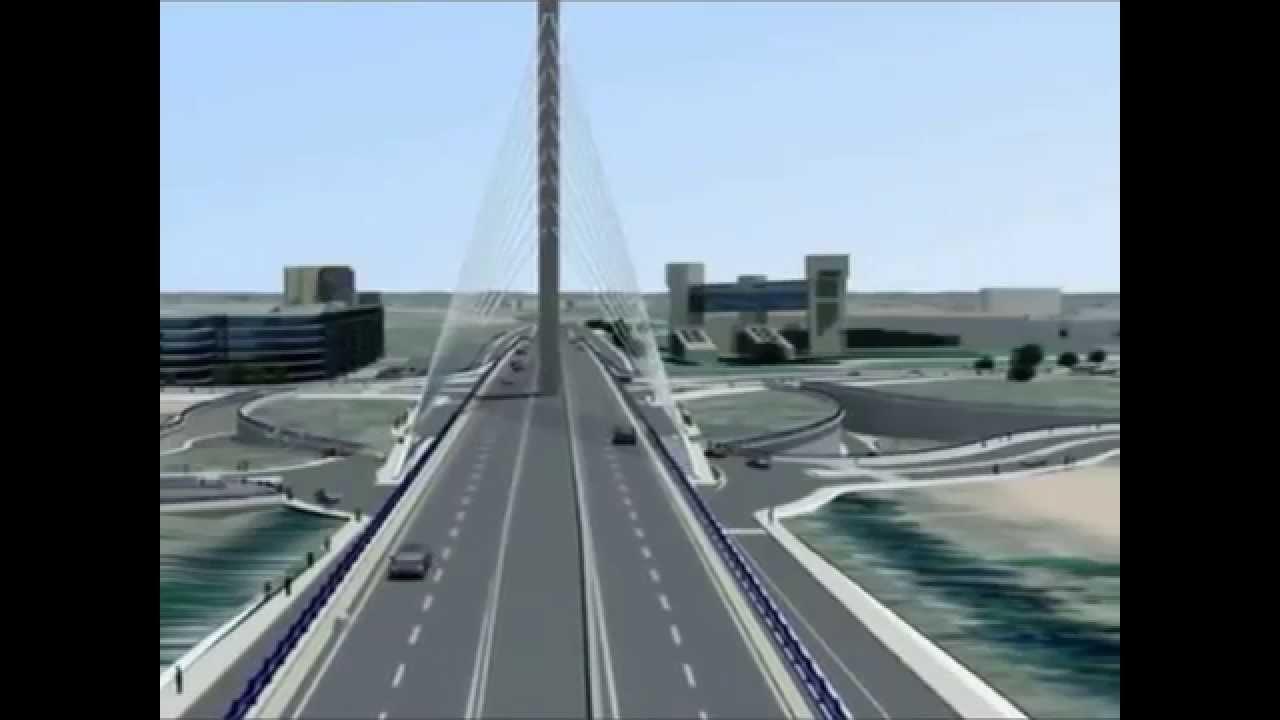Pont  haubans de Casablanca  YouTube
