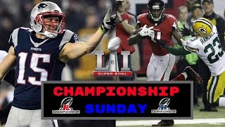 Patriots vs Steelers & Falcons vs Packers Recap | AFC and NFC Championship 1/22/2017
