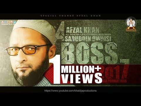 Boss Trailer 2017 Asaduddin Owaisi Version  Editing by Khadija productions