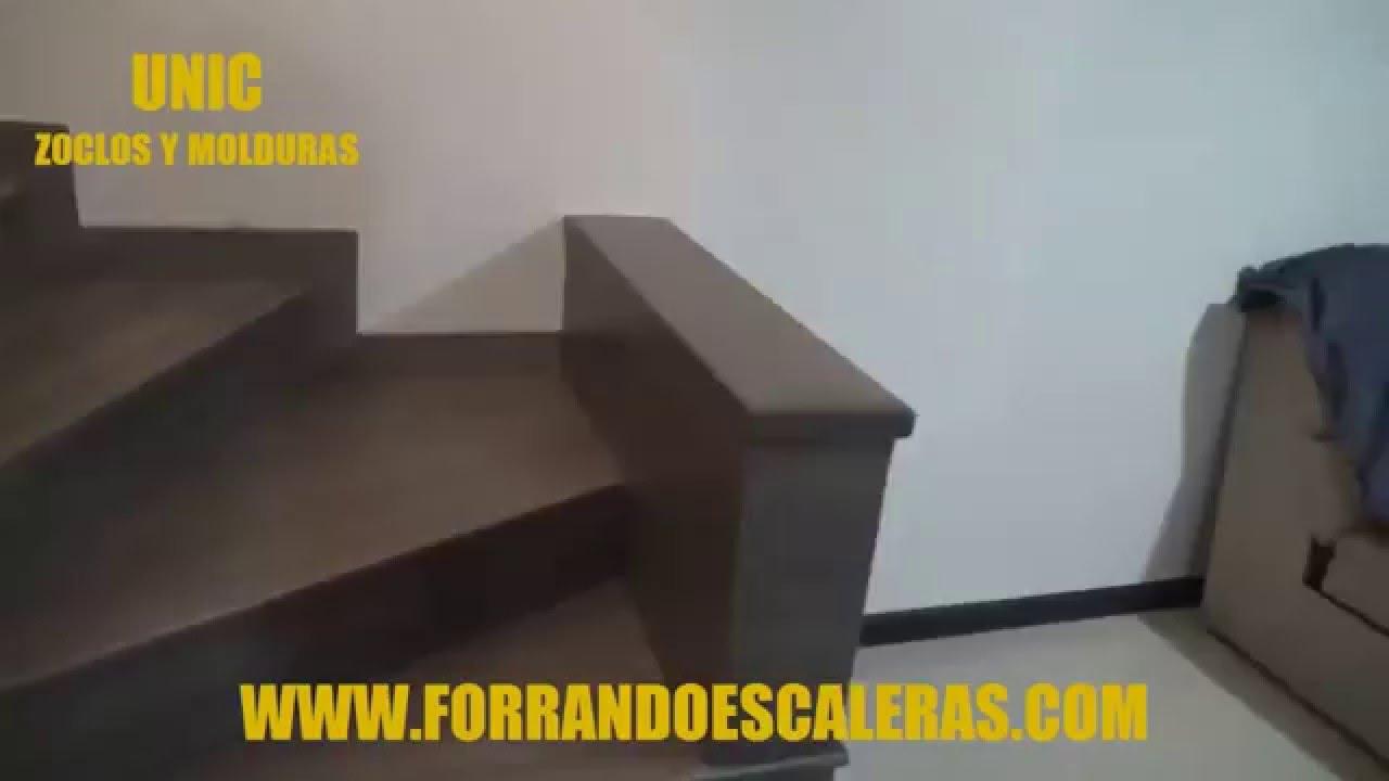 Duela laminada para escaleras y recamara youtube for Pisos para escaleras de concreto