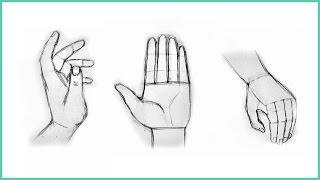 Уроки рисования. Как нарисовать РУКИ карандашом. ПРОСТОЙ принцип рисования(В этом видео покажем как просто и правильно нарисовать руки ▻ Скачайте видео урок