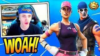 NINJA REACTS TO *NEW* ROSE TEAM LEADER & WARPAINT SKINS! *LEGENDARY* Fortnite FUNNY & EPIC Moments