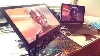 DRAWING MONITOR REVIEW. Ugee 2150 Graphics Tablet Drawing Monitor 21.5 Inch IPS monitor