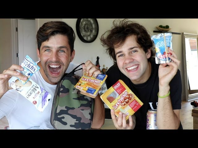 SCHOOL LUNCH MUKBANG with David and Jonah!