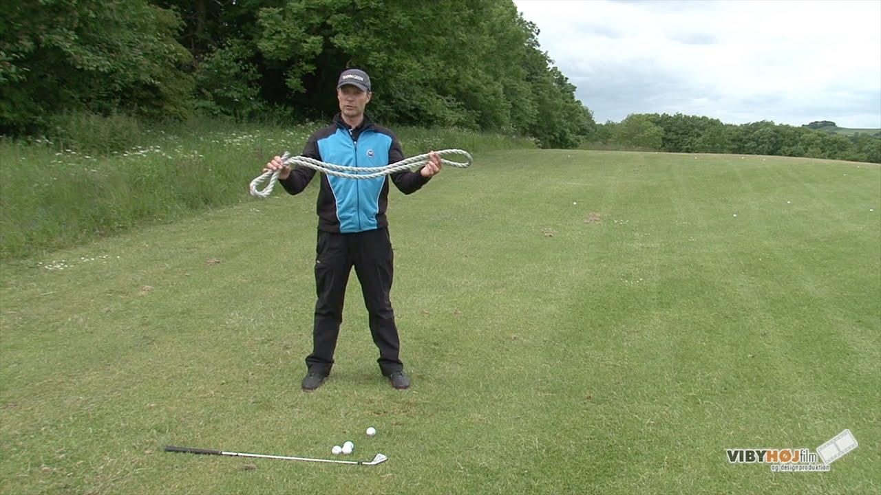 Golf tip: Lær at Koordinere kroppens bevægelse ved hjælp af et reb.
